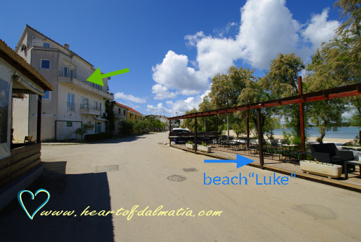 Apartament Luke beach 2+2 w Murter